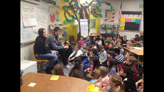 RHS Basketball Players Mentor Elementary School Students