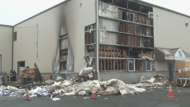 Fire Scorches Printing Building