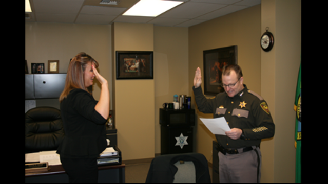 Benton County Sheriff's Office Swears in New Deputy