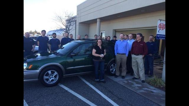 Auto Body Shop Donates Car To Women In Need
