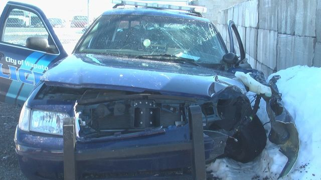 Man Fights Police, Steals Police Car, Crashes Down the Block
