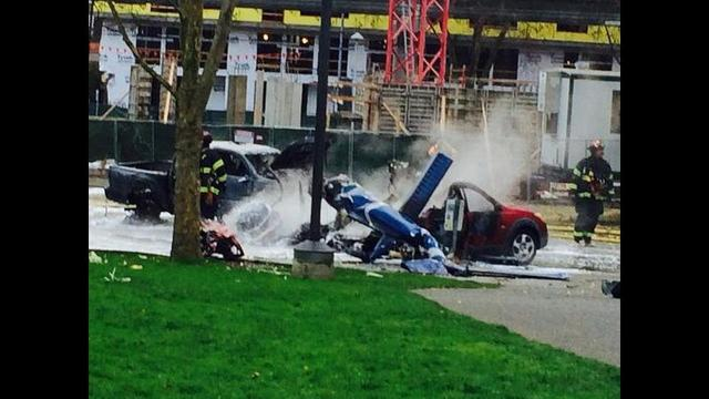 TV Helicopter Crashes Near Seattle Center