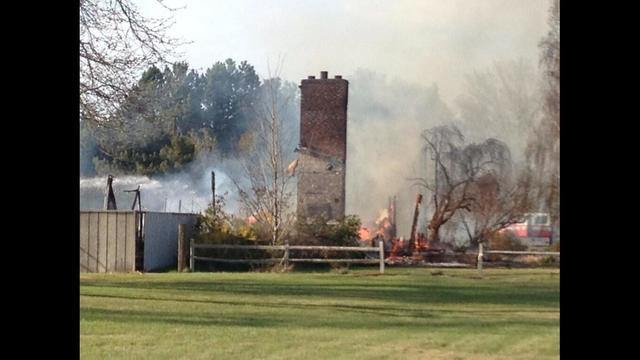 Fire Dept: Leaking propane Tank May Have Caused House Fire