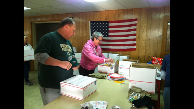 """Operation Thank You"" Packing Up Care Packages for Troops"