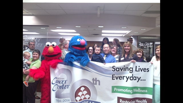 Elmo and Grover Visit The Cancer Center