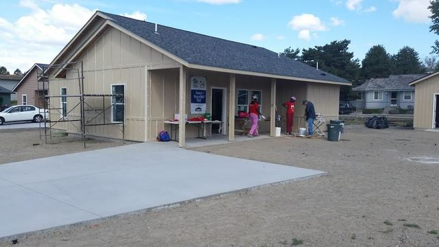 Volunteers Team Up To Build Home