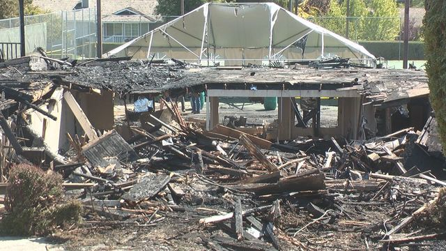 Fire Levels Yakima Tennis Clubhouse