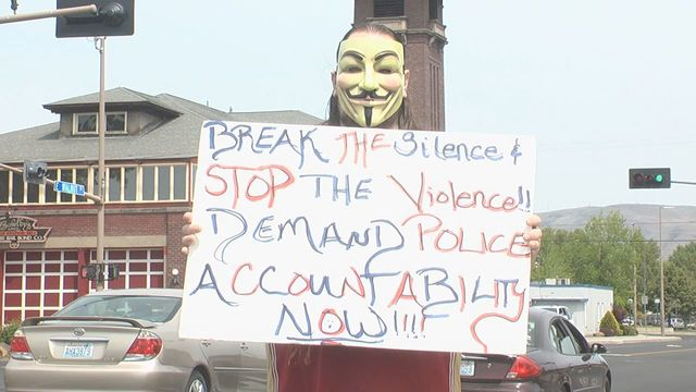 Group Protests Outside YPD
