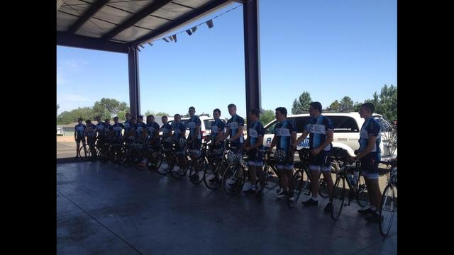 Pi Kappa Phi Bicylists Ride for People with Disabilities
