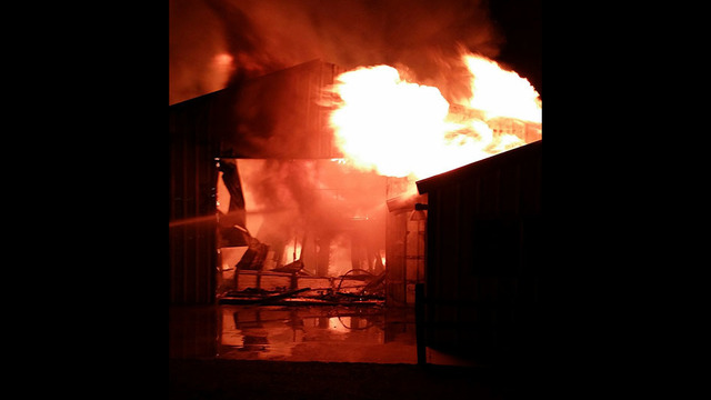 Large Fire Destroys Shop Near Grandview