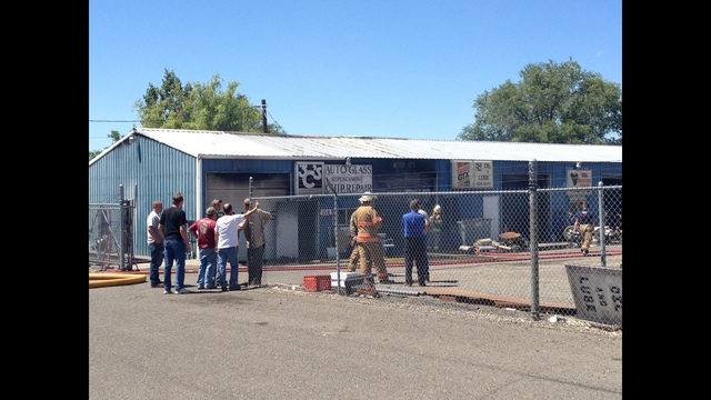 Zillah Fire at 3 C's Auto Shop