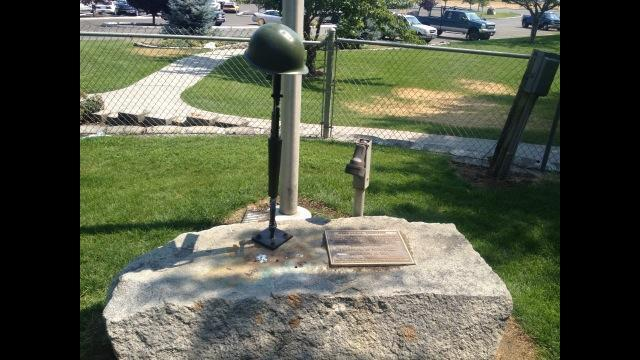 Flat Top Park Fallen Soldiers Memorial Vandalized For A Second Time