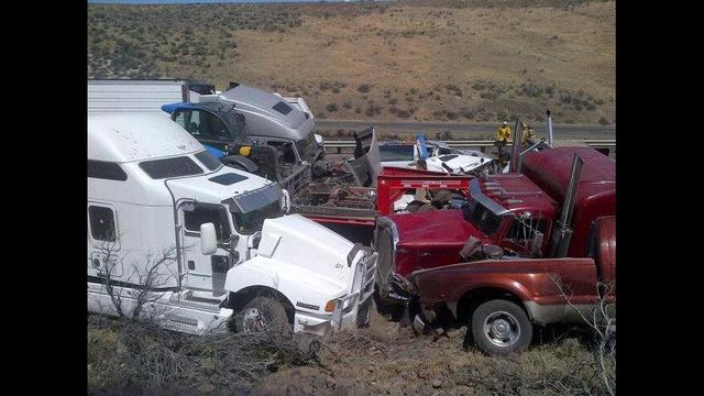 Multi-vehicle Accident Shuts Down I-90 between Kittitas and Vantage