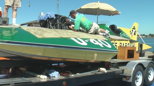 Vintage Hydroplanes on Display