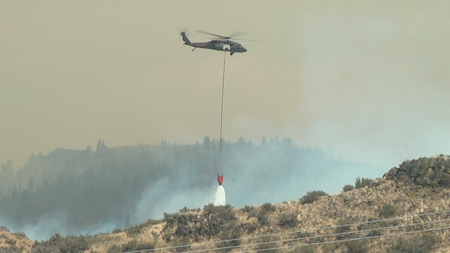 Snag Canyon Fire Growing