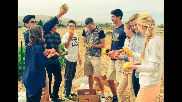 Tri-Cities Prep Students Harvest Produce for Foodbank