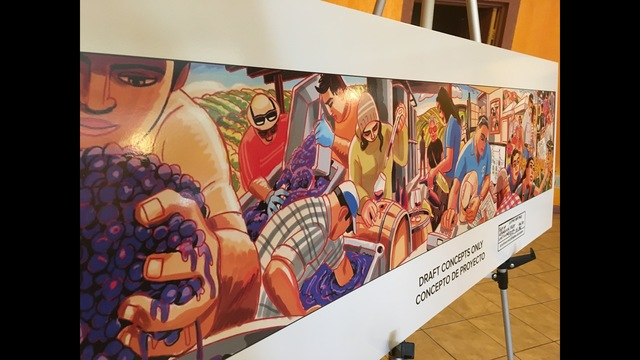 Artist meets with Latino community to create mural