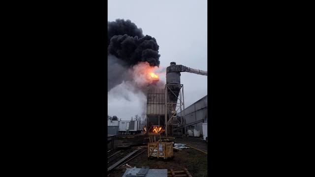 Dryer sparks industrial fire in Stanfield