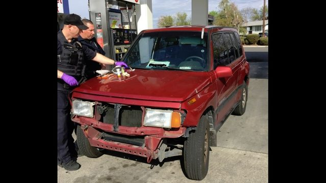 Man found passed out at gas station, arrested on outstanding warrant