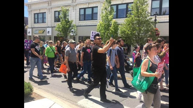 Pride rally takes place in downtown Yakima