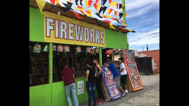 Firework stands open up on tribal land