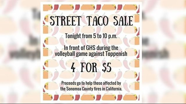 Grandview student sells tacos to raise money for California wildfire victims
